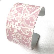 Pink Lace Print Cuff Bracelet - $21.00+