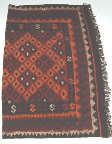 Unbranded WS202 Kilim Rug Hand Made Multi Colored Geometrical Design