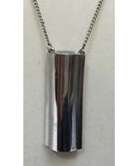 Avon Necklace Perfume Caddy PC Vile Holder Engraved Ariane 77 Silver Ton... - $17.81