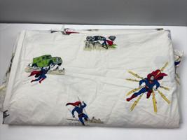 Pottery Barn Kids Superman Sheet Full Flat DC Comics 100% Cotton - $36.63