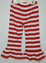 Blanks Boutique Red White Ruffled Pants Cotton Spandex Size 3T image 2