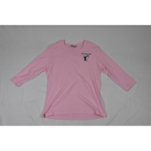 Womens Port Authority Bullets & Babes ¾ Sleeve Shirt Size Large Pink - $19.59