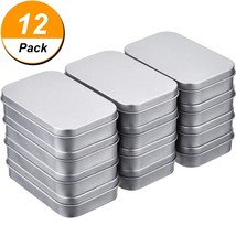 Shappy 12 Pack 3.75 by 2.45 by 0.8 inch Silver Metal Rectangular Empty H... - $18.36