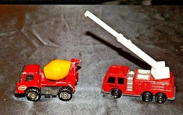 Tonka Die-cast Firetruck and Cement Truck AA19-1514 Vintage