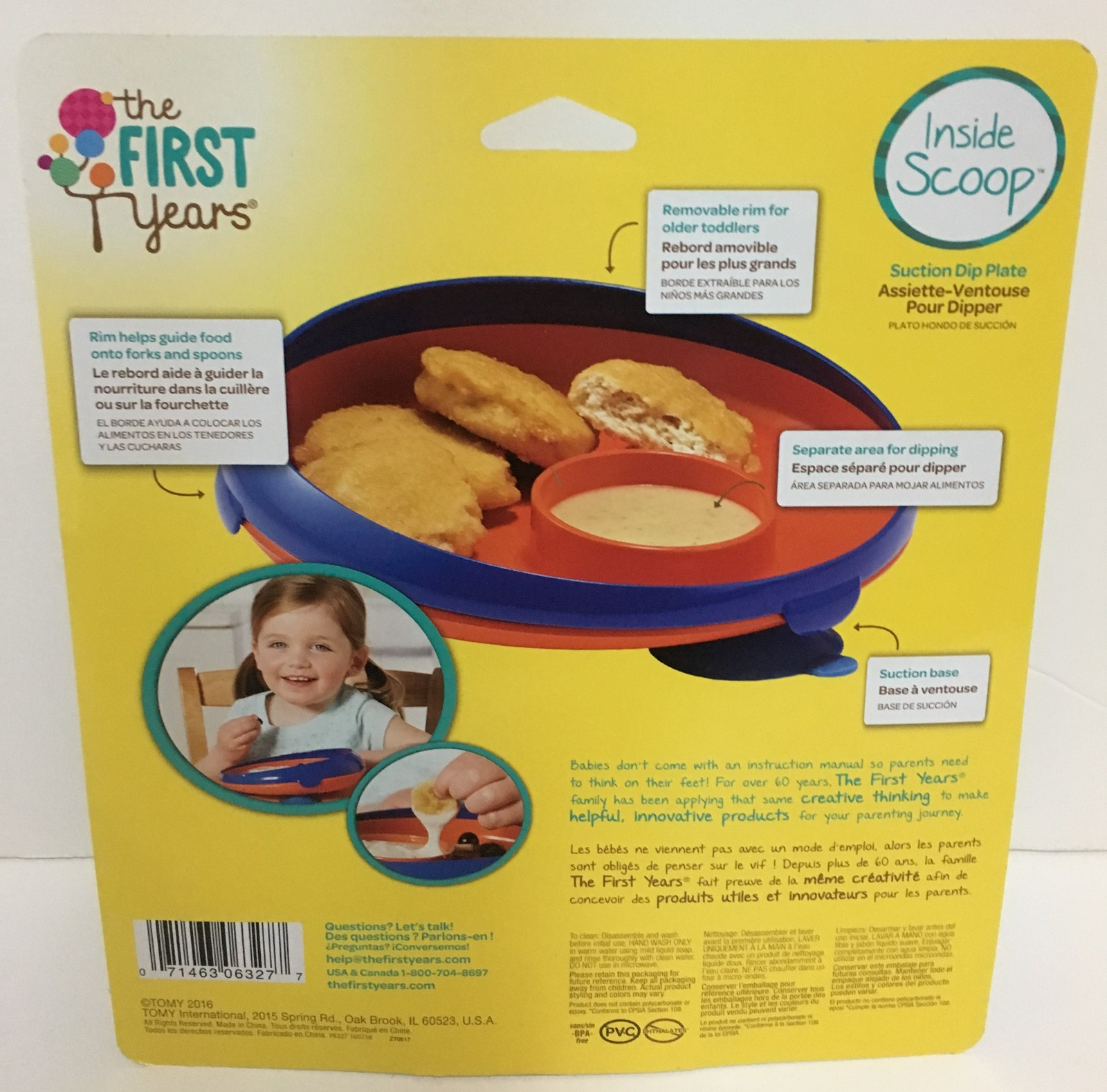 The First Years Suction Dipping Plate 12 Months+ NEW BPA Free