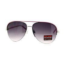 Halb Felge Aviator Sonnenbrille Damen Farbe Top Übergröße Pilotenbrille - $7.95