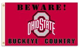 Beware Buckeye Country Flag 3'x5' Deluxe Banner - $29.65