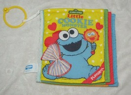 Vintage Playskool Touch Ems Little Cookie Monster Baby's First Book Soft... - $24.74