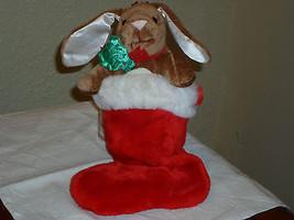 """Plush 14"""" Velveteen Rabbit in Christmas Stocking - $26.99"""