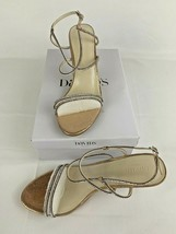 David's Bridal Rose Gold Sandal Heel Shoes Size 11 Sparkle Lyla Strappy ... - $39.55