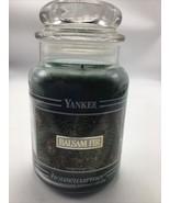 Yankee Candle 22 oz BALSAM FIR Black Band Jar Retired Green Housewarmer ... - $48.37