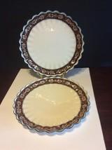 Vintage Copeland/Spode Dessert/Luncheon Plate Lot Of 2 Ornate Ring Blue Rim - $20.00