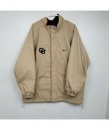 VINTAGE Colorado University Buffaloes Mens Jacket Coat Large L Beige Spe... - $40.16