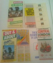 Britiain London Vintage 1987 Travel Visitors Guide Map Brochures - $9.65