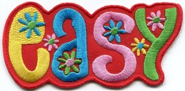 EASY retro hippie 70s love peace embroidered applique iron-on patch S-1407 - $2.95