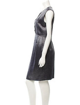 NWT $595 Theyskens' Theory Drace Dress Gray Silver Purple Office Party 8... - $595.00