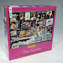 Ceaco Jigsaw Puzzle Ken Keeley Historic Newsstand 1000 Pieces Cher Vogue... - $12.95