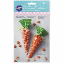 Easter Bunny Carrot Shaped Treat Bags 15 Ct Plastic Party Wilton - €2,69 EUR