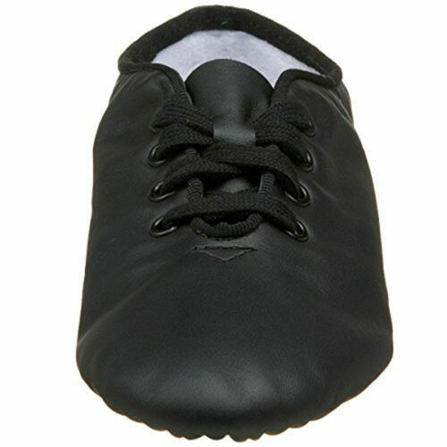 Capezio CG02C Black Lace Split-Sole Jazz Shoe Child Size 12.5M 12.5 M