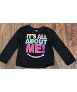 Garanimals Infant Girl Black Long Sleeve Graphic Shirt (24M) - $8.86