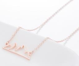 Origami Snow Mountain Necklaces & Pendants Mountain Range Pendant Necklace image 3