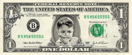 Spanky on a REAL Dollar Bill Little Rascals Cash Money Collectible Memor... - $8.88