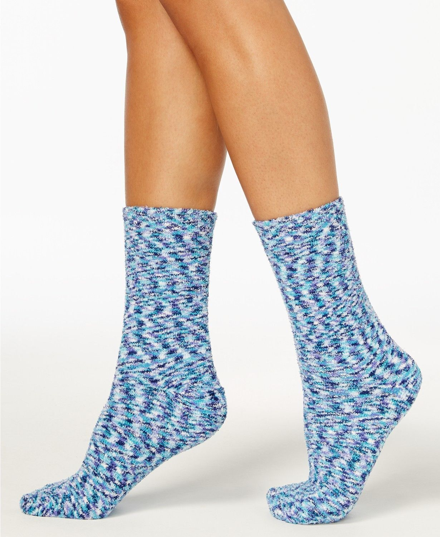 Charter Club women's Space Dye Supersoft Butter Sock Socks Blue OS