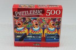 "PUZZLEBUG CraZart 18.25"" X 11"" Puzzle 500 Piece Ping Pong Clowns Midway ... - $9.79"