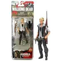 "Year 2013 AMC TV Walking Dead 4.5"" Figure ANDREA w/ Pitchfork, Rifle, Vest & Gun - $29.99"