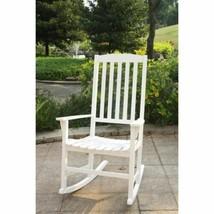 White Rocking Chair Rocker Mahogany Wood Modern Style Single Seat Porch ... - $155.33