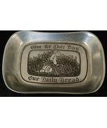 """Wilton Armatale Pewter """"Give Us This Day..."""" Bread Tray, circa 1970s - $11.03"""
