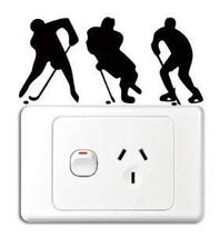 Hockey Players Vinyl Switch Sticker Decor Lightswitch Decor Wall Decals ... - $5.89