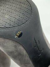 "Jessica Simpson 8.5 Belemo Gray Suede Pumps 4"" High Heels Shoes image 8"