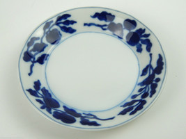 """1 Single Fitz And Floyd Floral Indigo Small Butter Jelly Dish Plate 5-3/8"""" - $7.69"""