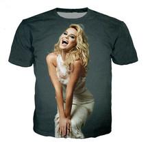Fashion Men/Womens Actor Margot Robbie 3D Print Casual T-Shirt Short Sle... - $33.00