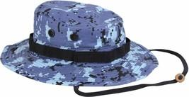 Sky Blue Digital Camouflage Military Wide Brim Boonie Hat - $12.99