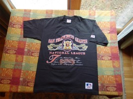 Vintage San Francisco Giants Mens L Black 1991 MLB Nutmeg Mills T-Shirt - $25.00