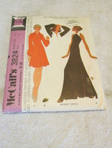 Vintage McCalls 3824 Misses Dress For Unbonded ... - $6.99