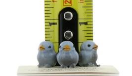 Hagen Renaker Miniature Bird Bluebird Tweety Baby Chicks Set of 3 Figurines image 2