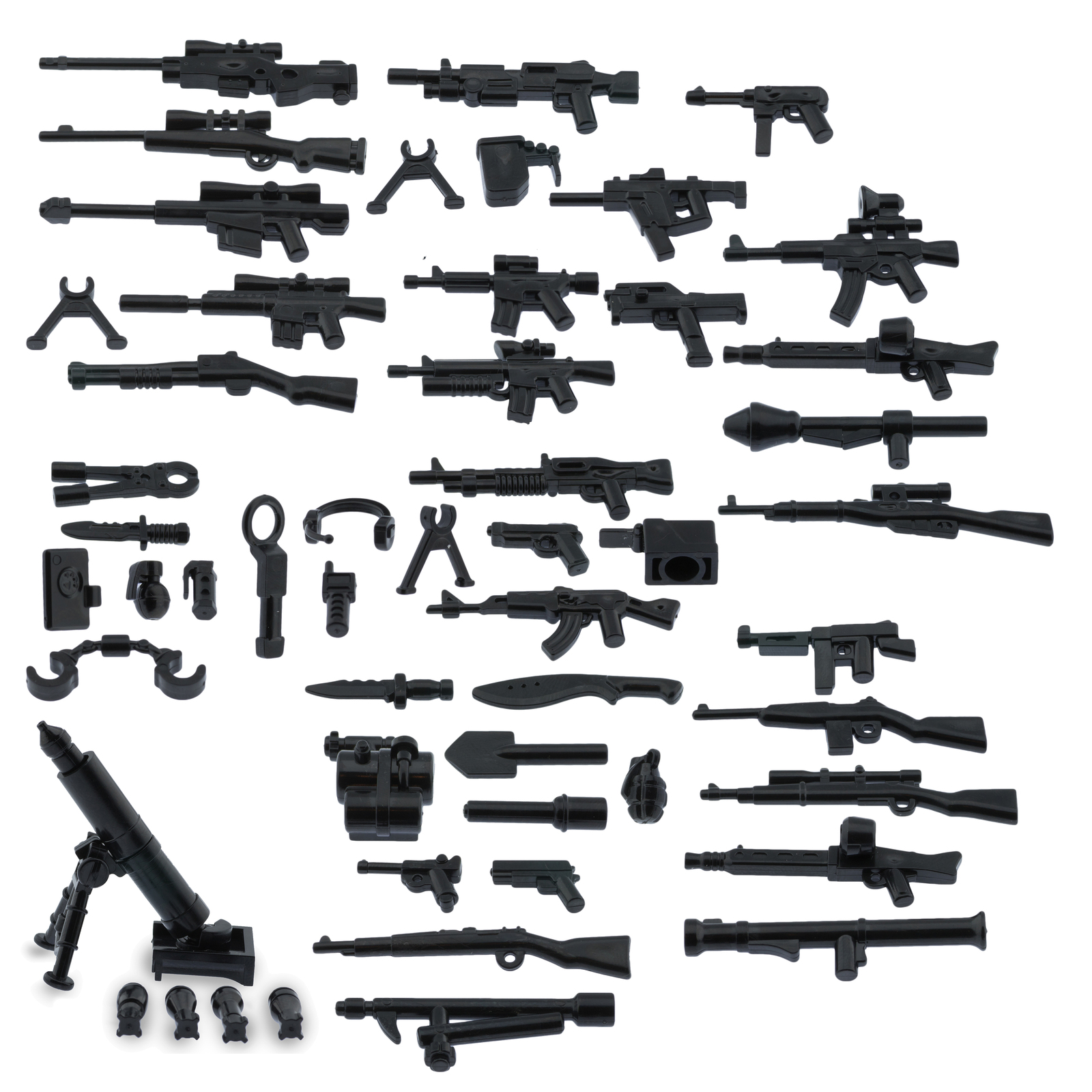 My military guns weapons pack for lego minifigures minifig accessories set a and b  weapons pack