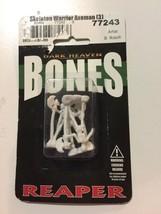 Reaper Miniatures Skeleton Warrior Axeman (3) #77243 Bones D&D RPG Mini ... - $4.70