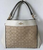 New Coach 29548 small Lexy Jacquard Shoulder Bag handbag Light Khaki / C... - $119.00