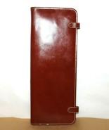 ❤️British Tan Top-Grain Cowhide Tie Hanging Organizer USA Vintage Case L... - $23.74