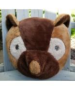 Vtg Pajama Stash Pillow Brown Teddy Bear Raccoon Plush Original Thing Ju... - $45.52