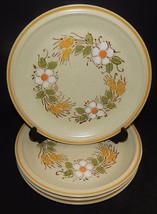 4 Prairie Flowers Hearthside Garden Festival Stoneware Dinner Plates Japan - $39.59