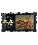 Vintage Harley Davidson Motorcycle Wood Wall Clock Large 18 x 10 - $67.50