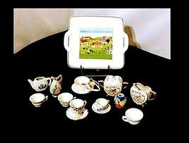 Tea Cups & Saucers AB 299 Miniature Vintage image 2