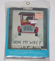 Old Fashioned Car Needlepoint Kit, 737B Goin My Way, Made in USA, New Ol... - $8.75