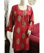 Rose Red Printed Kurta ,XXL Size - $54.45