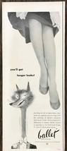 1953 Burlington Ballet Brand Stockings PRINT AD Glamourize Your Legs - $10.69